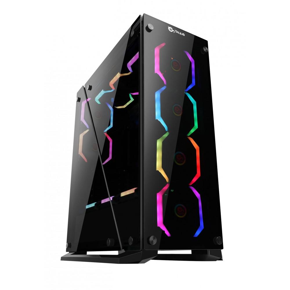 Caixa Gaming ATX Cygnus RGB Vidro Temperado USB 3.0 (Preto) - TALIUS