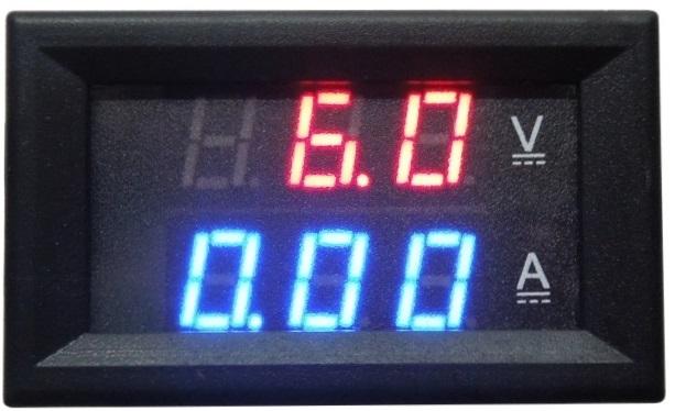 Voltimetro/Amperímetro Digital LED (4,5...100VDC / 0...10Amp)