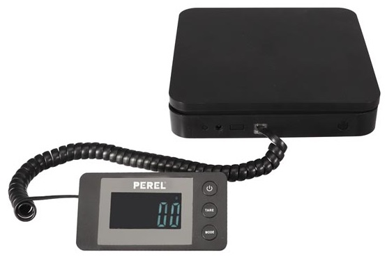 Balança Digital Portátil c/ Display 40Kg (5g) - PEREL
