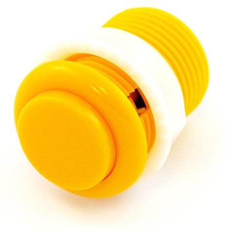Botão Pulsador p/ Consolas de Arcade 12V/1A (35 x 46mm) - Amarelo