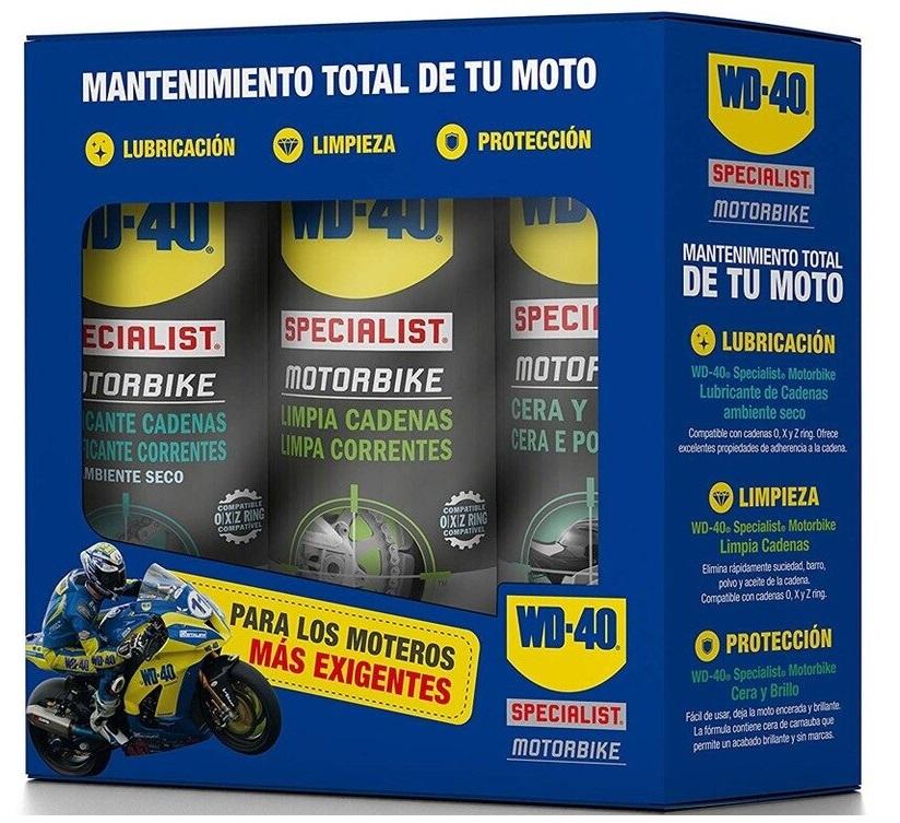 Pack 3-EM-1 Spray´s Lubrificação, Limpeza e Protecção SPECIALIST MOTORBIKE (400ml) - WD-40