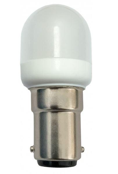 Lampada LED BA15D 220V 1W Branco Q. 3000K 80Lm (Ø23 x 55mm)