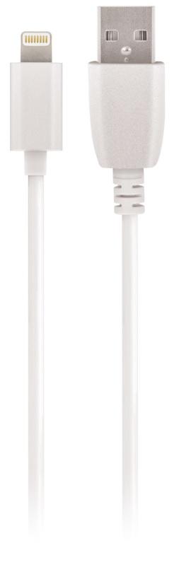 Cabo USB A Macho -> Lightning 8 Pin iPhone/iPad/iPod Macho 2A Fast Charge (3 mts) - MAXLIFE