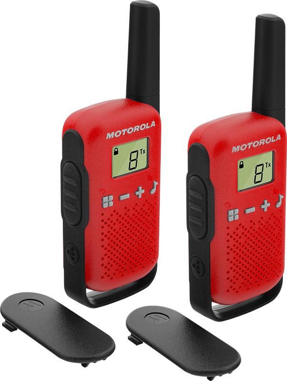 Walkie-Talkie 16 Canais Vermelho (2 Peças) TLKR-T42 - MOTOROLA