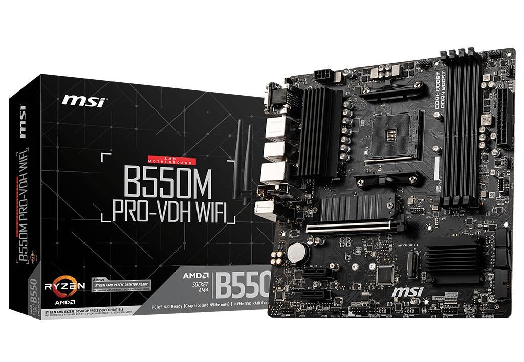 Motherboard B550M PRO-VDH WIFI Skt AM4 Micro ATX - MSI