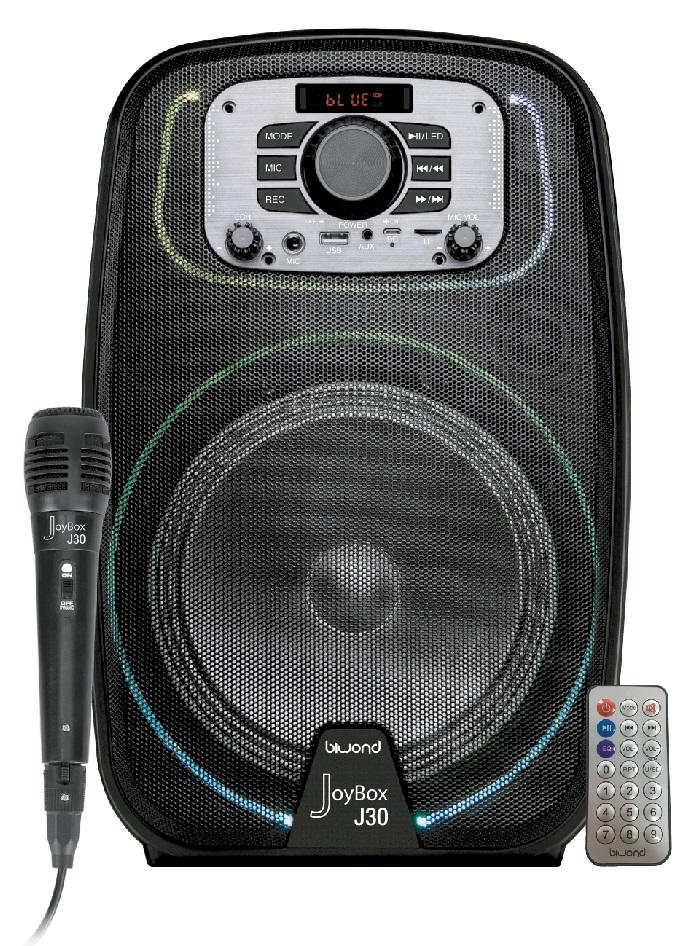 Coluna Amp. Portátil 8 250W c/ Efeitos LED USB/SD/MP3/FM/BLUETOOTH - BIWOND JOYBOX J30