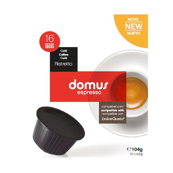 Cápsulas Dolce Gusto Domus Espresso (16 Unidades) Ristretto
