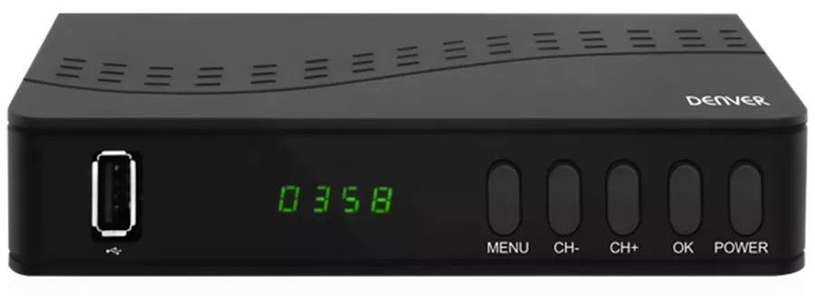 Receptor TDT DVB-T2 H.264 FTA Full HD 1080p c/ USB - DENVER