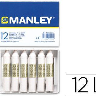 Lápis de Cera Manley 12 Unidades Branco