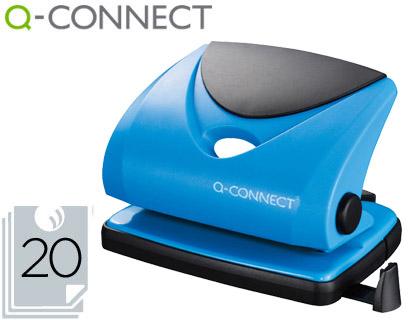 Furador Q-Connect, Capacidadee 20 Folhas - Azul