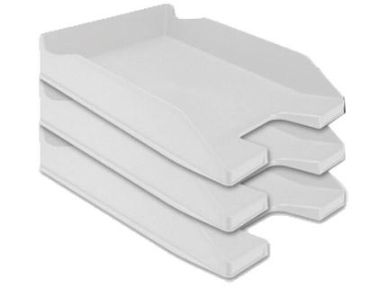 Tabuleiro de Secretaria Q-Connect Plastico Cinza Opaco