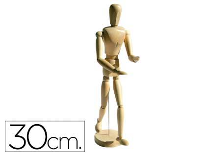Boneco de Pintura Artits Madeira Masculino 30 cm