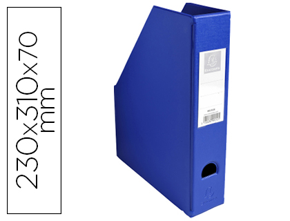 Porta Revistas Exacompta PVC Lombada 70mm Cor Azul 230X310X70 mm