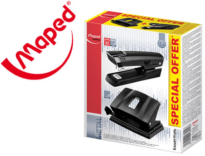 Agrafador + Furador Maped Essentials