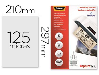 Bolsa de Plastificar Fellowes Brilho Din A4 125 Microns (25 Unidades)