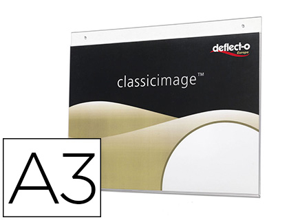 Expositor Mural Deflecto Classic Image A3 Horizontal Transparente 420X330X7 mm