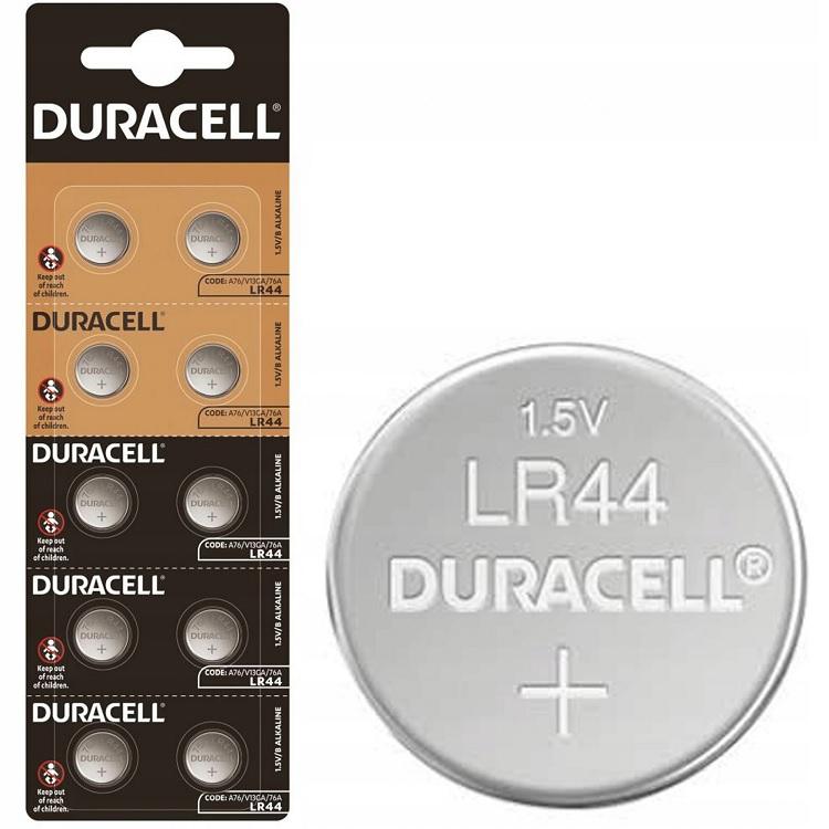 Pilha Alcalina 1,5V (LR44, AG13, L1154, 157, V13GA, RW82, A76) - DURACELL