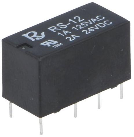 Relé Mini DPDT 12V CC 2 Contactos 2A - RAYEX
