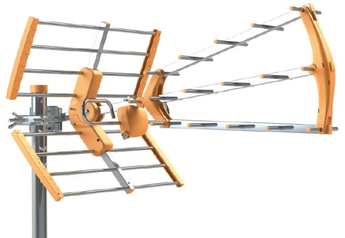 Antena Digital TDT UHF 15dB 16 Elementos c/ Ficha F (LTE 5G) - TECATEL ANT-BKM15700