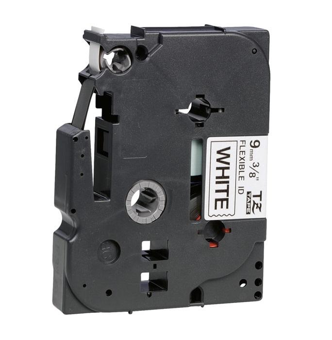 Etiquetadora TZe-FX221 Preto Sobre Branco (8 mts/0,9cm) - BROTHER