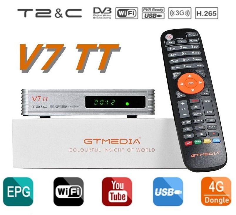 Receptor Cabo DVB-C + TDT DVB-T2 Full HD Wi-Fi - GTMedia V7 TT