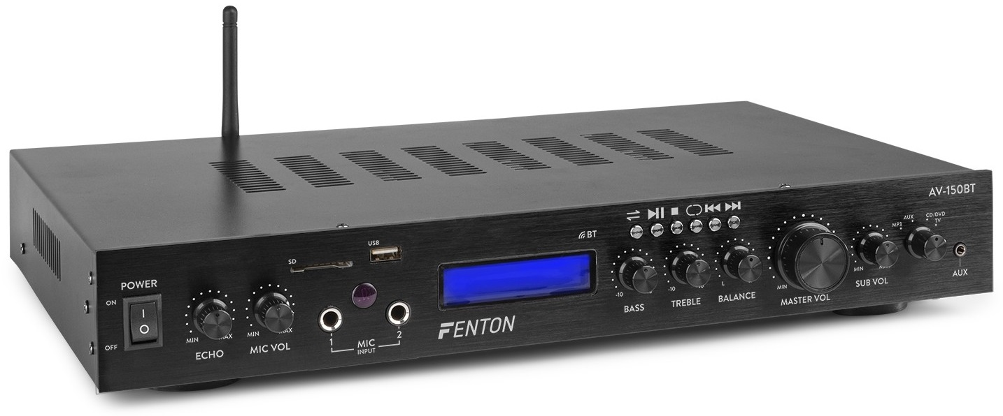 Amplificador 5 Canais Bluetooth MP3/USB/SD 380W (AV-150BT) - FENTON