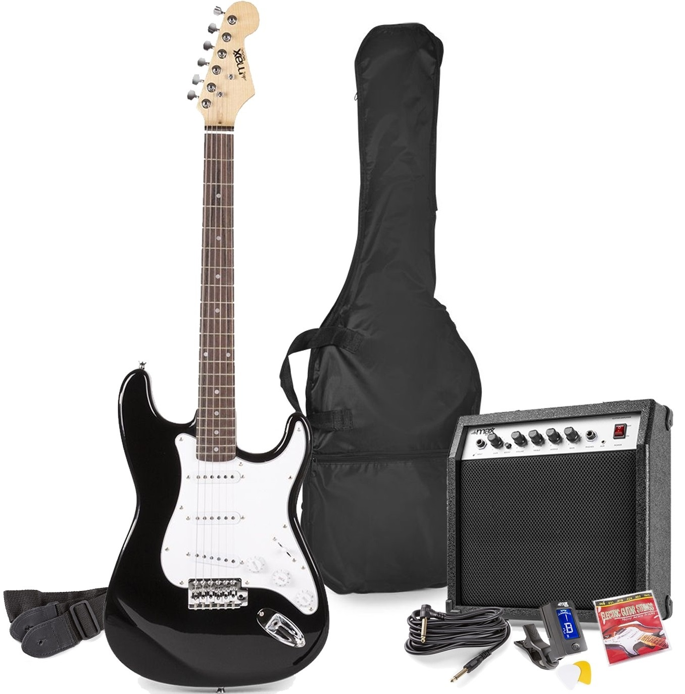 Pack GIGKIT Guitarra Eléctrica + Amplificador 6 40W (Preto) - MAX