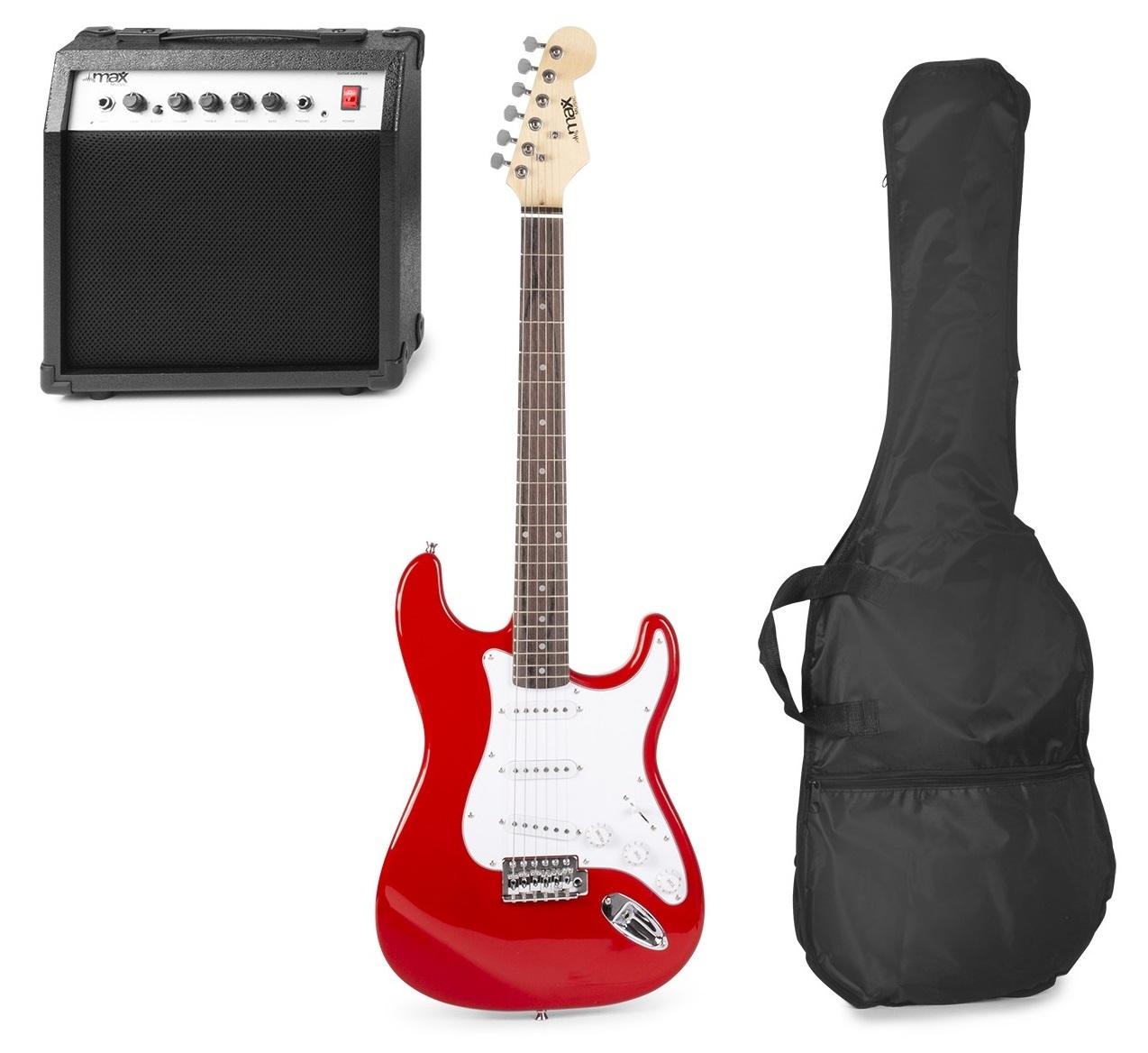 Pack GIGKIT Guitarra Eléctrica + Amplificador 6 40W (Vermelho) - MAX