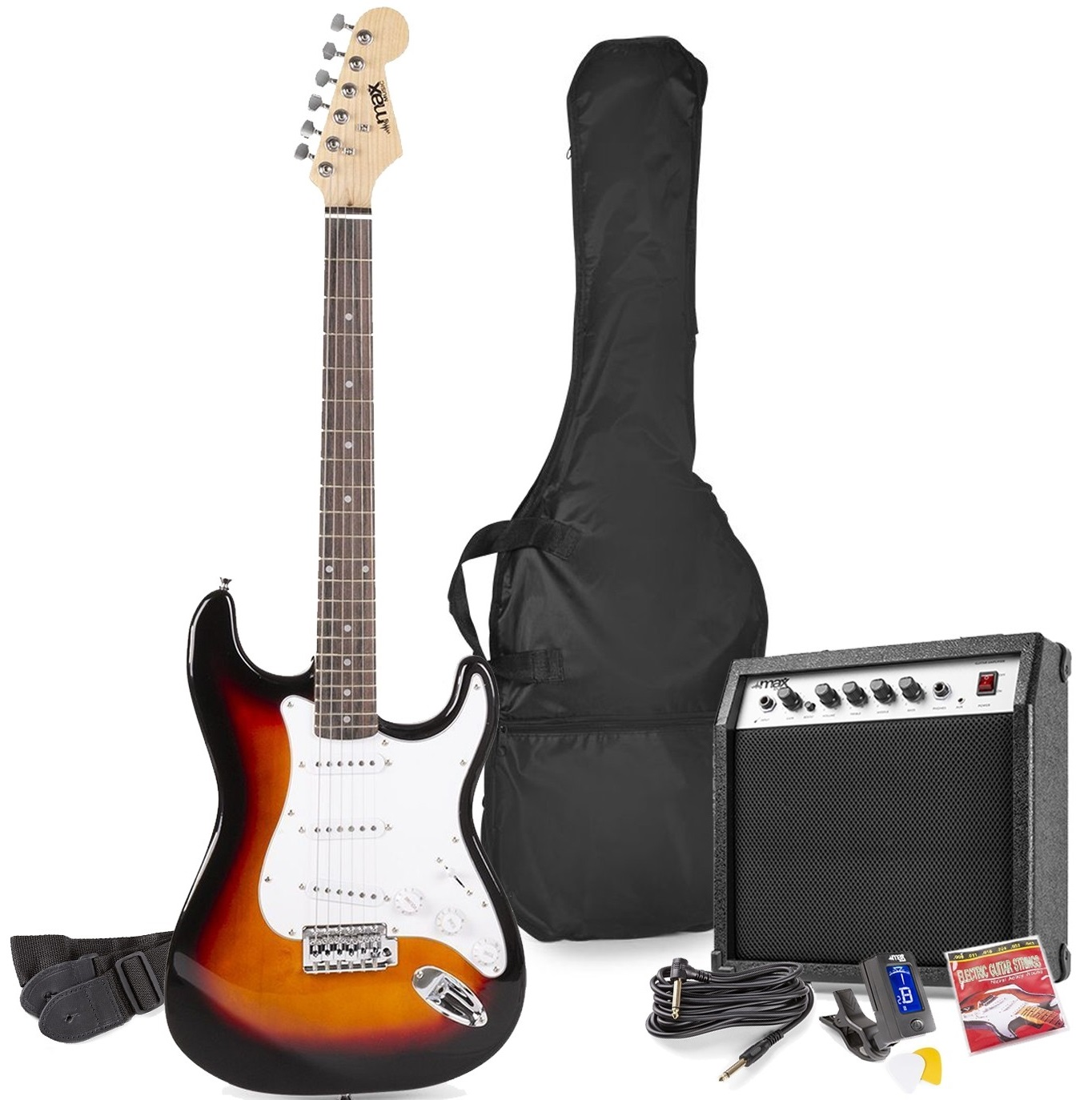 Pack GIGKIT Guitarra Eléctrica + Amplificador 6 40W (Castanho) - MAX