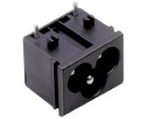 Ficha C.I. Femea Tripolar 2,5A 250V (IEC-C6)
