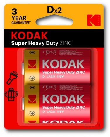 Blister 2 Pilhas R20 / D - KODAK