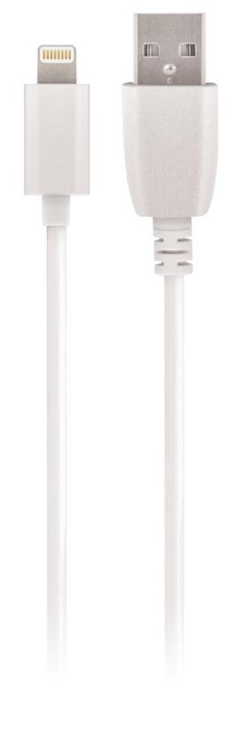 Cabo USB A Macho -> Lightning 8 Pin iPhone/iPad/iPod Macho 1A (1 metro) - MAXLIFE