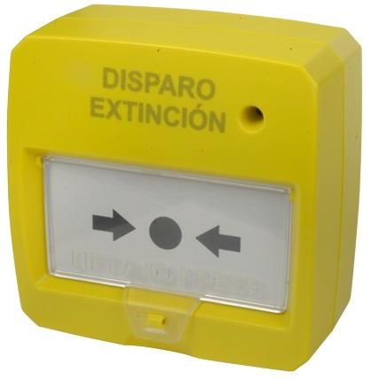 Botão de Alarme de Incêndio Rearmável c/ LED (Amarelo)