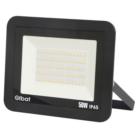Refletor LED Slim Series 50W 6500K (Preto) - ELBAT