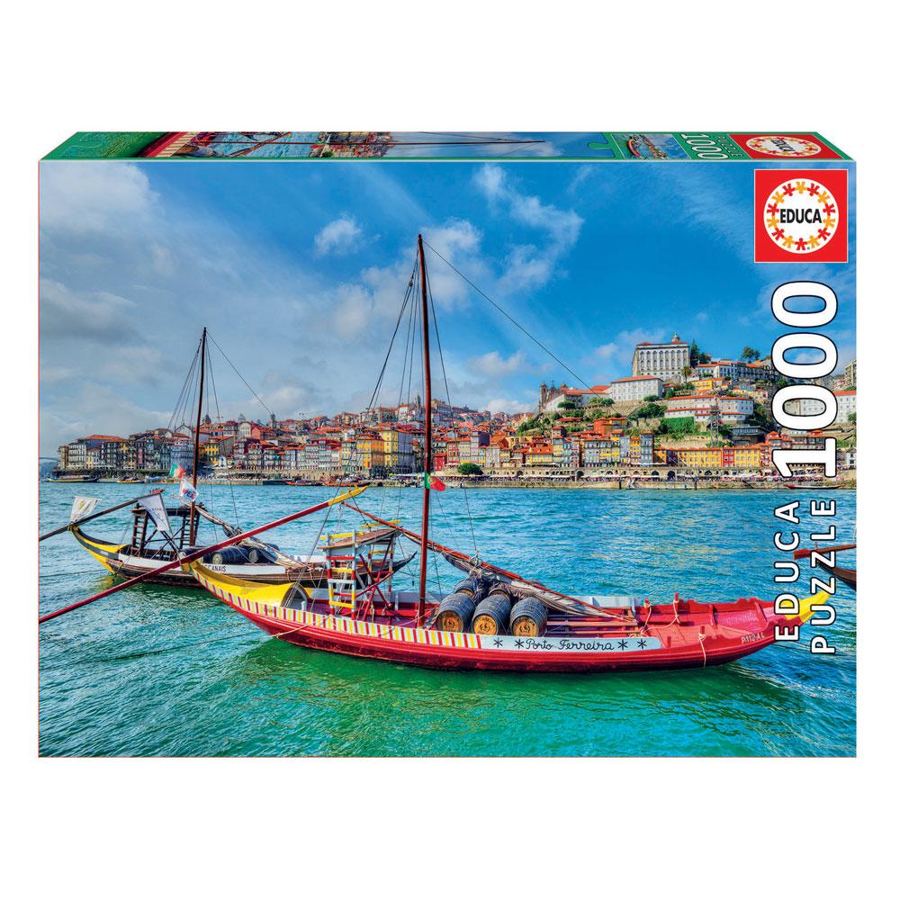 Puzzle 1000 Barcos Rabelos Porto