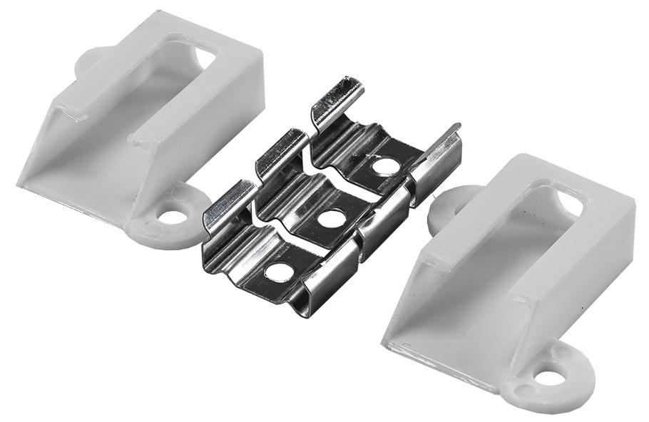 Pack Fixadores e Topos p/ Perfil de Fita de LEDs PERF-406-4