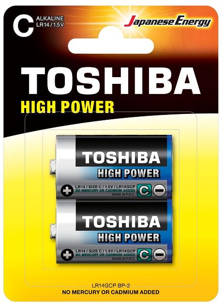 Blister 2 Pilhas Alcalinas 1,5V C / LR14 - TOSHIBA