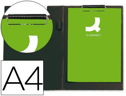 Porta Notas Q-Connect c/ Mola Miniclip Din A4, Preto