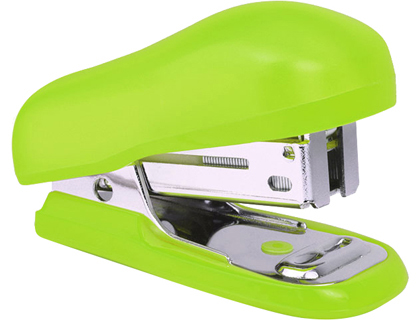 Agrafador Rapesco Bug Mini Capacidade 10 Folhas (Agrafo 26/6 Color) Verde + Caixa 1000 Agrafo