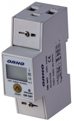 Medidor Digital de Custos de Energia p/ Calha DIN (Monofásico) 5(80)A - ORNO