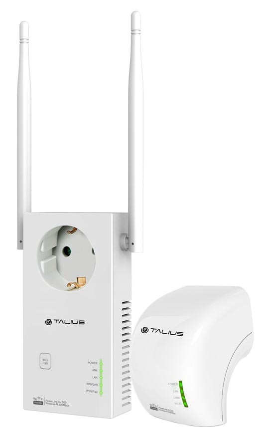 Power Lines Kit PLC AV500Mbps + AV300Mbps WiFi - TALIUS