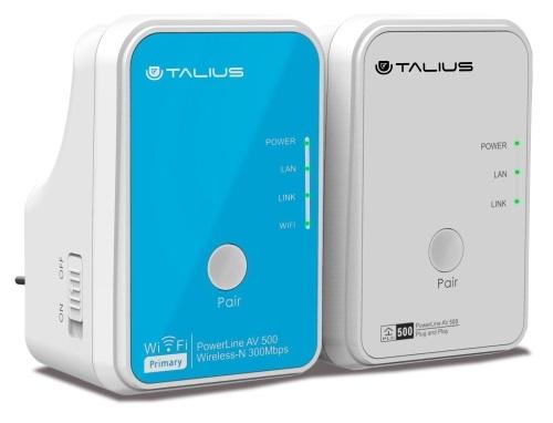 Power Lines PLC Kit AV500Mbps + AV300MMbps (1 WiFi) - TALIUS