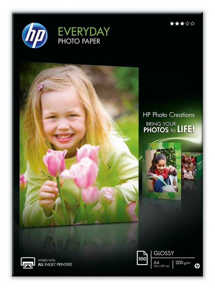Papel Fotográfico Brilhante A4 (100 Folhas) - HP
