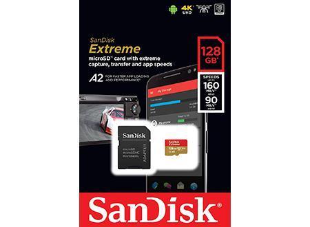 Cartão de Memória Extreme Micro SDXC 128GB + Adaptador + Rescue Pro - SANDISK