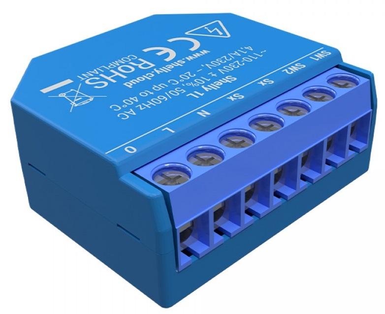 Módulo Interruptor p/ Automação Wi-Fi (s/ Neutro) 110...220V 16A - Shelly 1L