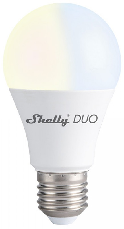 Lâmpada LED Duo E27 A60 Smart Wi-Fi 9W 2700~6500K 800Lm - Shelly Duo