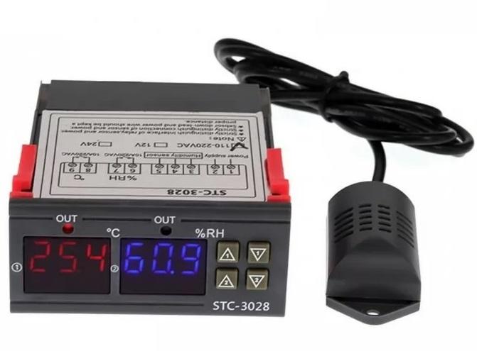 Termostato Digital de Temperatura e Humidade 220V