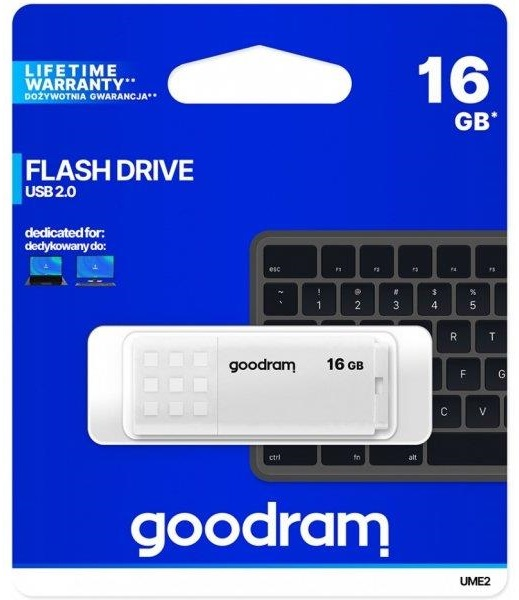 Pen Drive USB 2.0 16GB UME2 (Branco) - GOODRAM