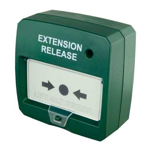 Botão de Alarme de Incêndio Rearmável c/ LED (Verde)