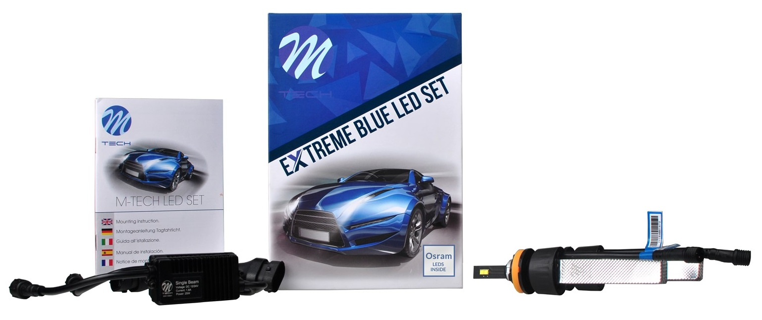 Kit 2x Lampadas LED Extreme H11 6000K 40W 5000Lm